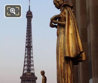 Golden Statues At Palais De Chaillot