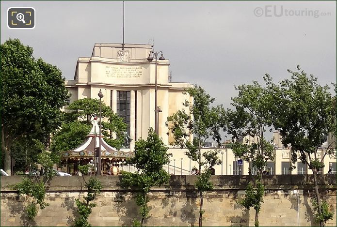 Palais De Chaillot Left Hand Wing Inscription