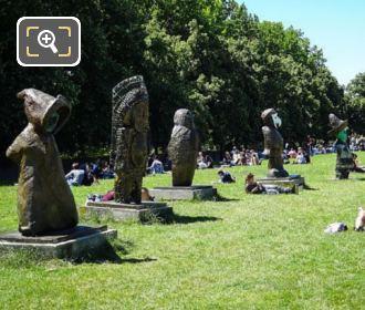 Enfants Du Mode Statues Parc De Bercy