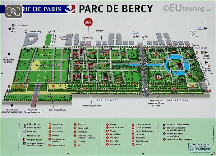 Parc De Bercy Map