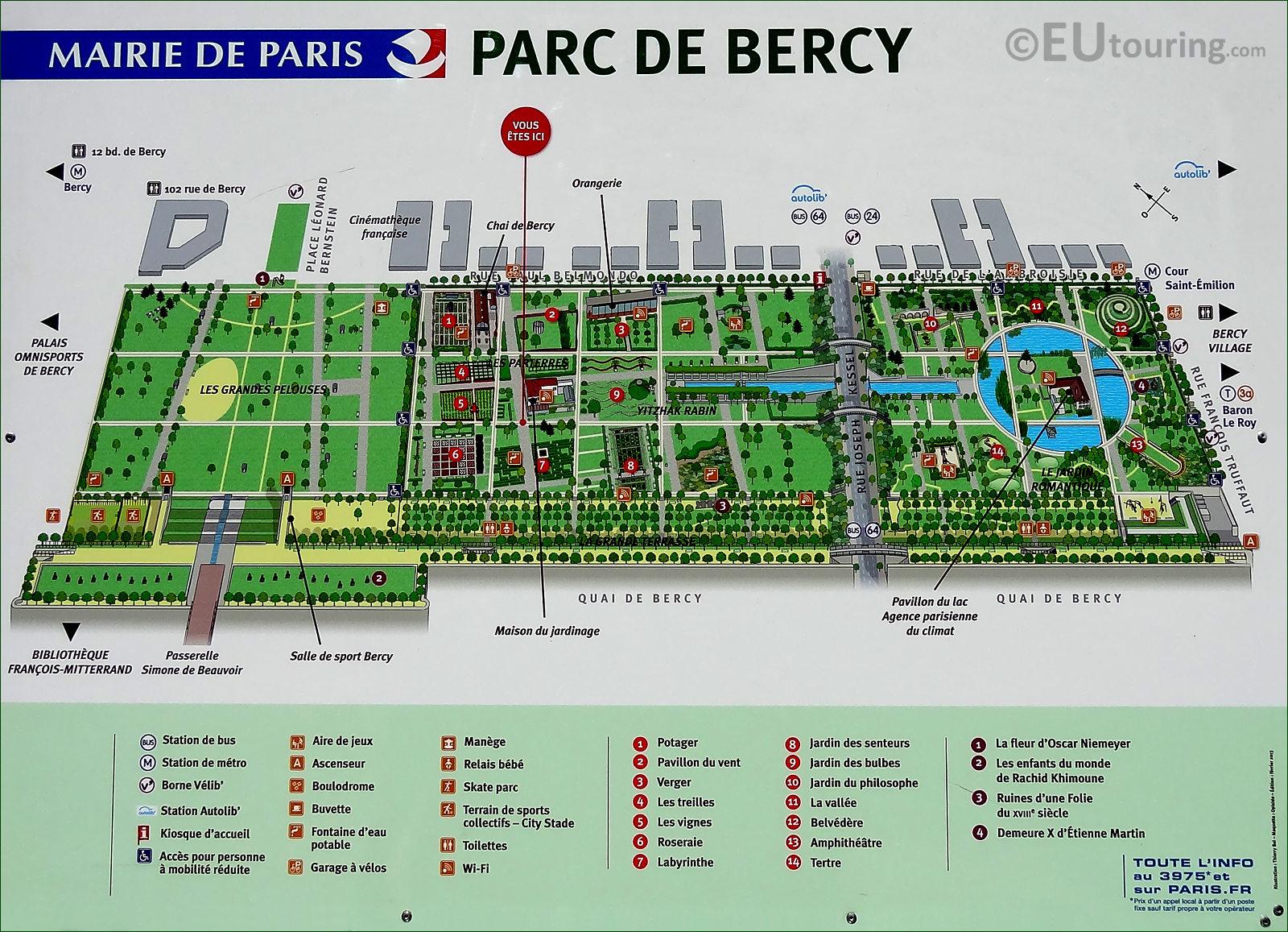 HD Photographs Of Parc De Bercy In Paris France
