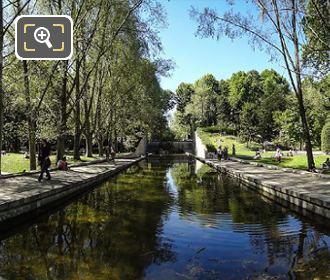 Canal Water Feature Inside Parc De Bercy