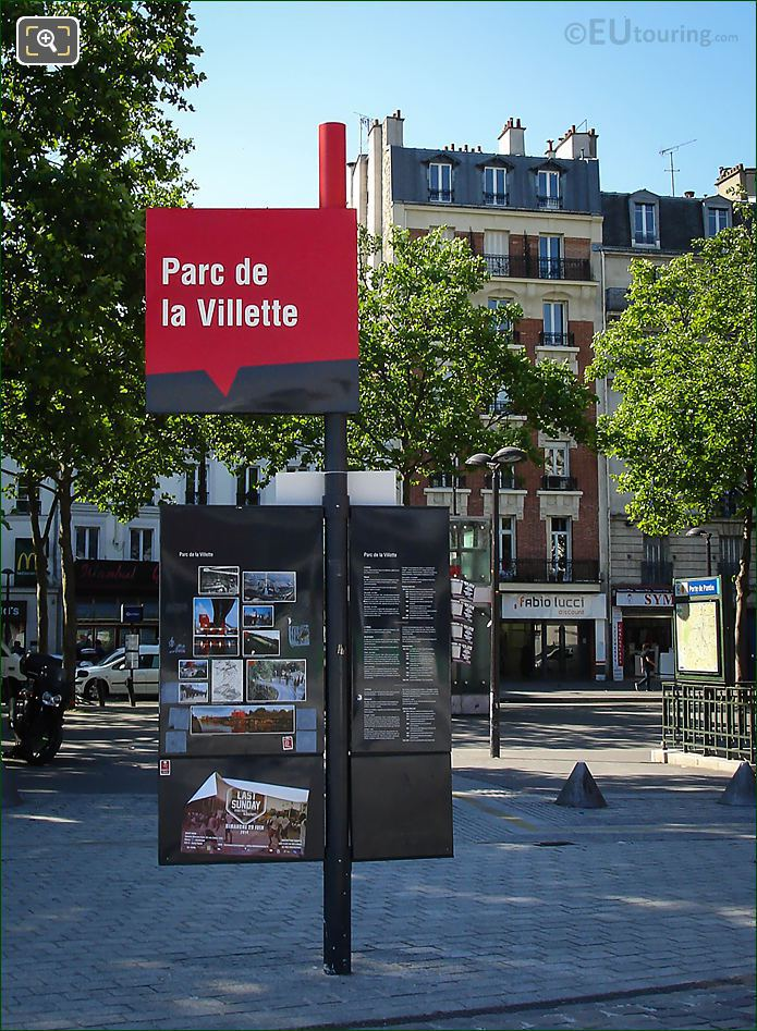 Parc De La Villette Sign Post