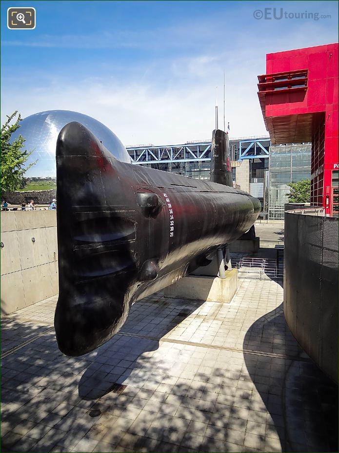 S636 Argonaute Submarine Parc Villette