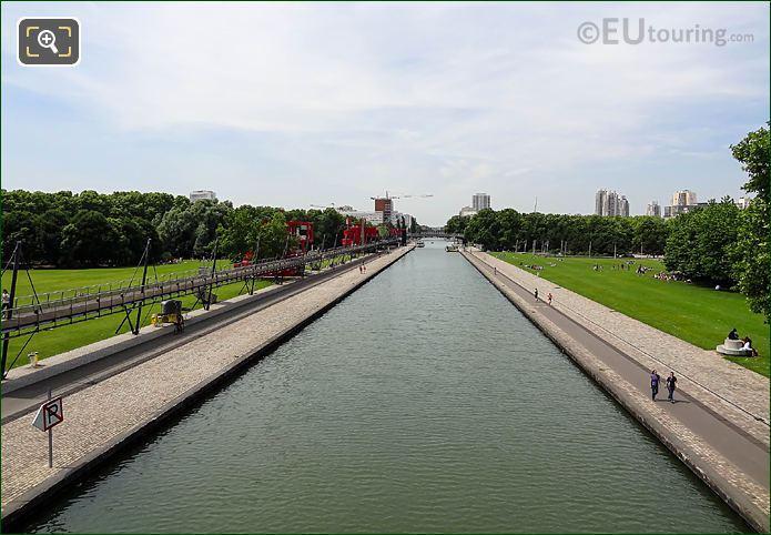 Aerial View Canal De l'Ourcq Parc Villette