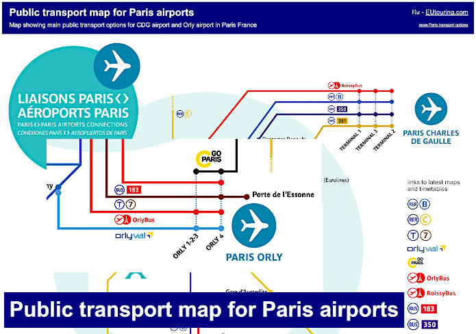 Public Transport Map For Paris Airports