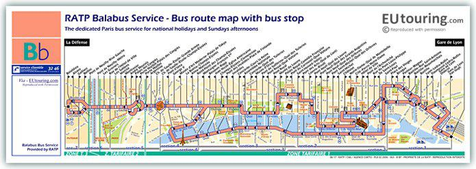 Map Balabus With Stops