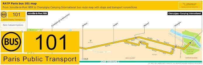 Paris Bus Line 101 Map With Stops