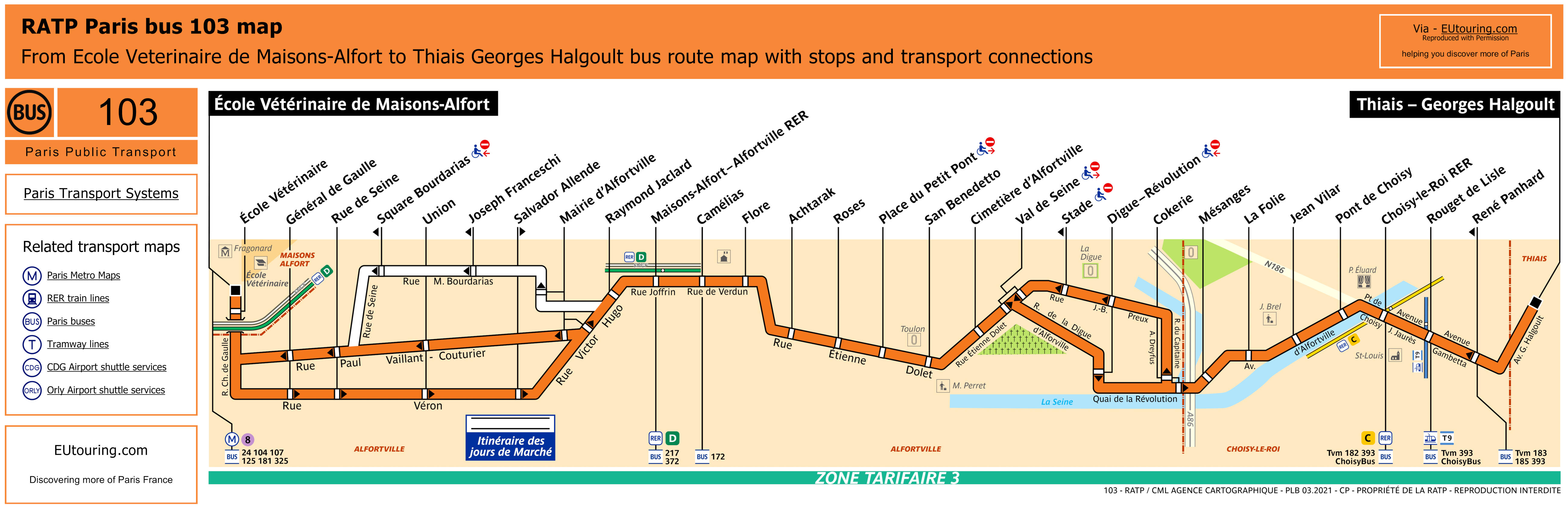 Paris Bus Maps And Timetables For Bus Lines 100 Through To