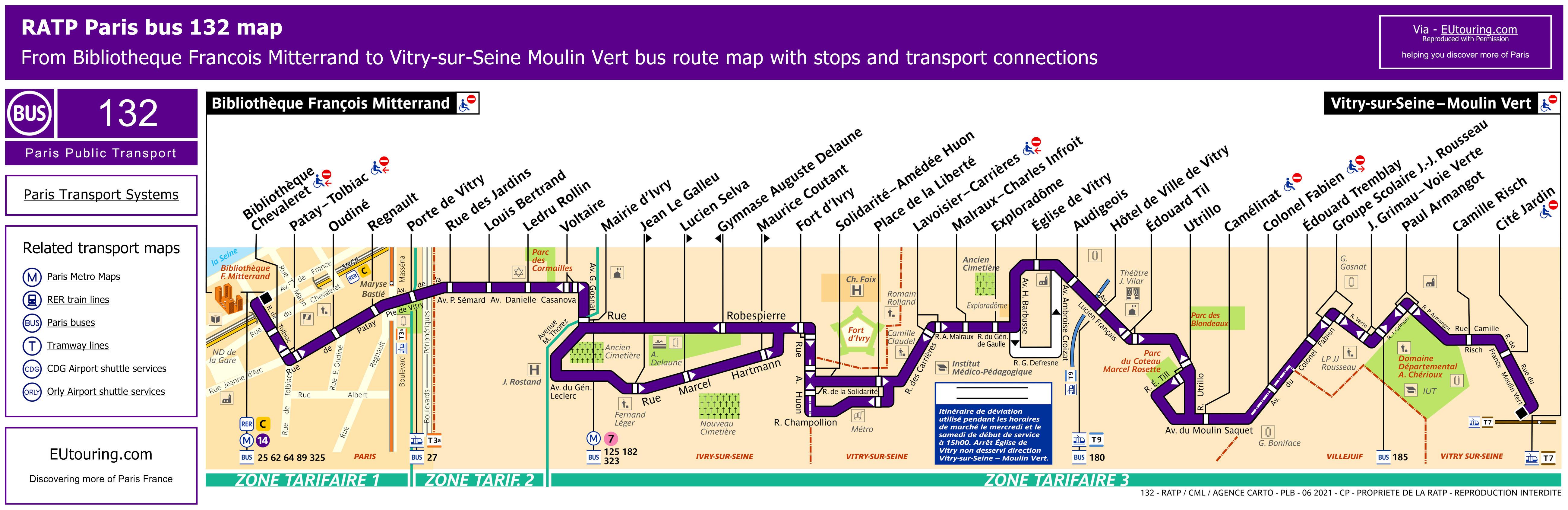 Ratp Bus Maps Timetables For Paris Bus Lines 130 To 139