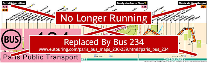 Paris Bus Line 134 Map With Stops