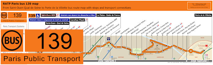 Paris Bus Line 139 Map With Stops