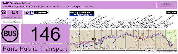 Paris Bus Line 146 Map With Stops