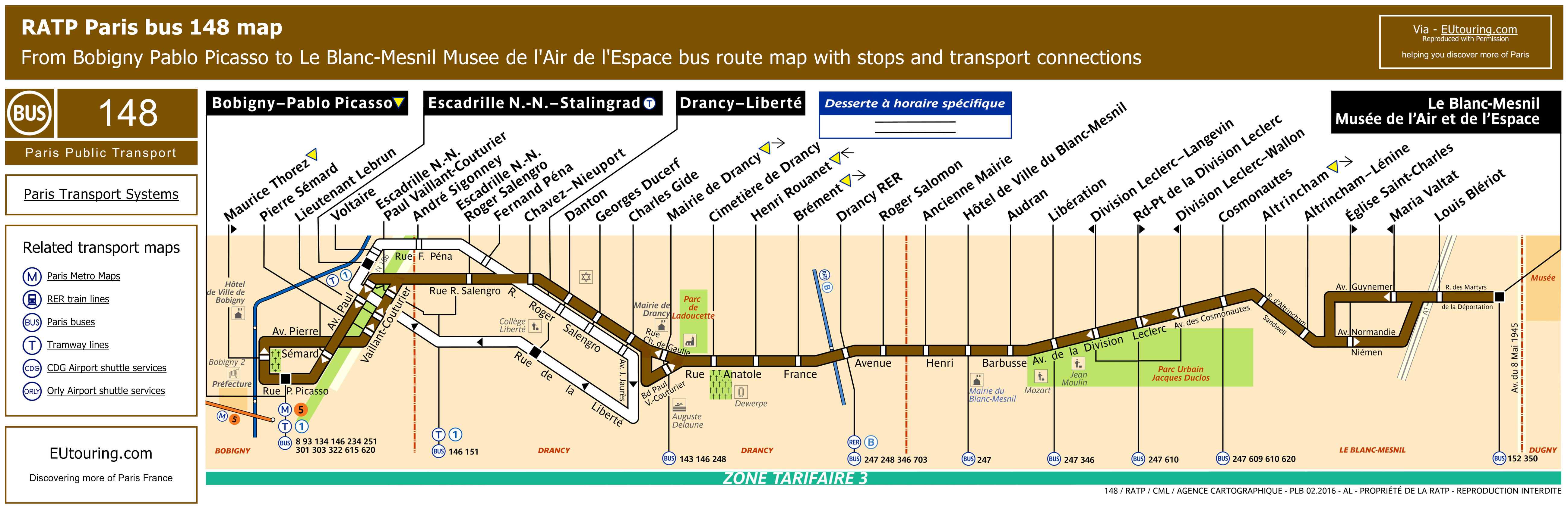 Ratp Bus Maps Timetables For Paris Bus Lines 140 To 149