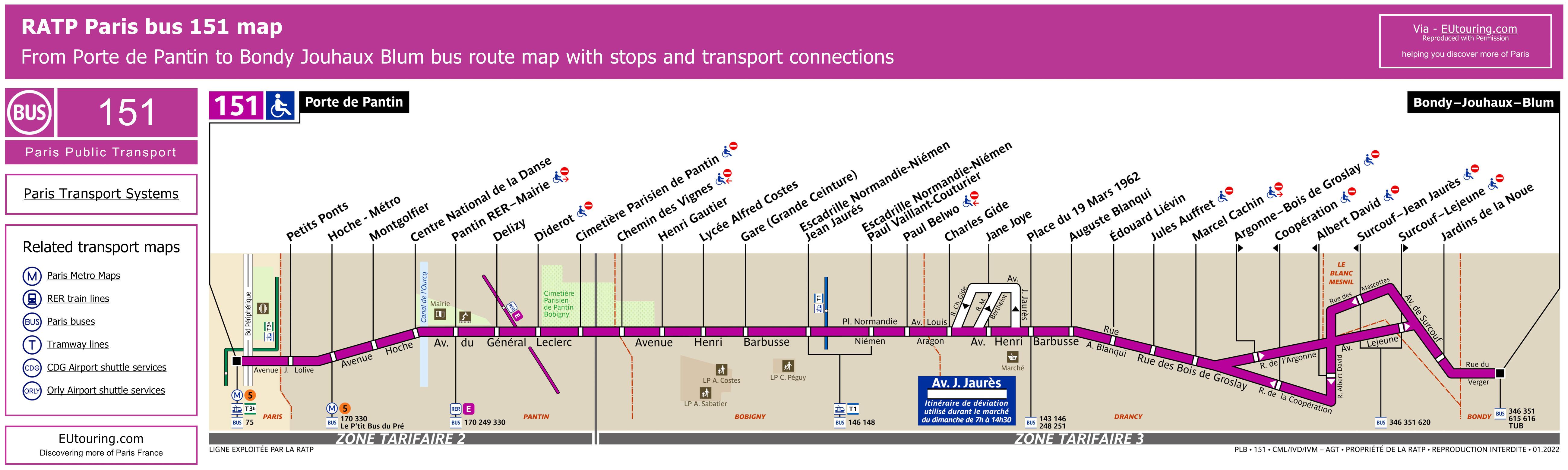 Ratp Bus Maps Timetables For Paris Bus Lines 150 To 159