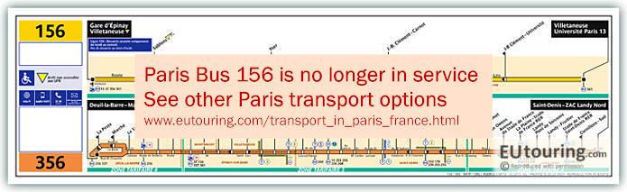 Paris Bus Line 156 Map With Stops