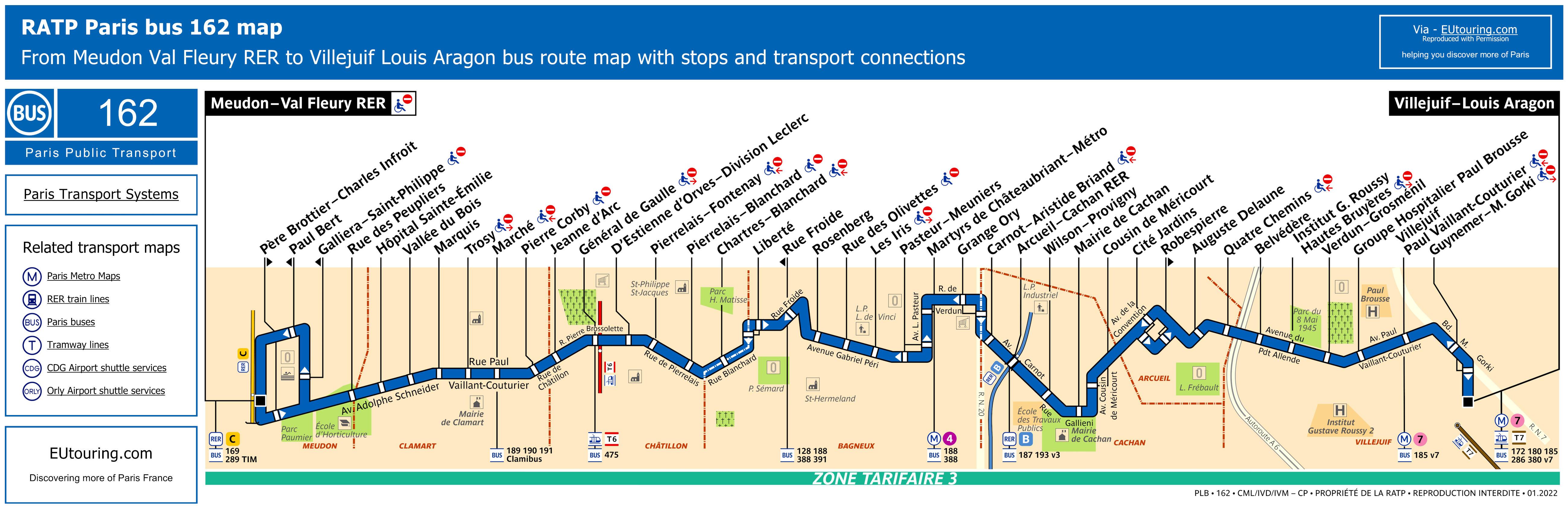 ratp route maps for paris bus lines 160 through to 169