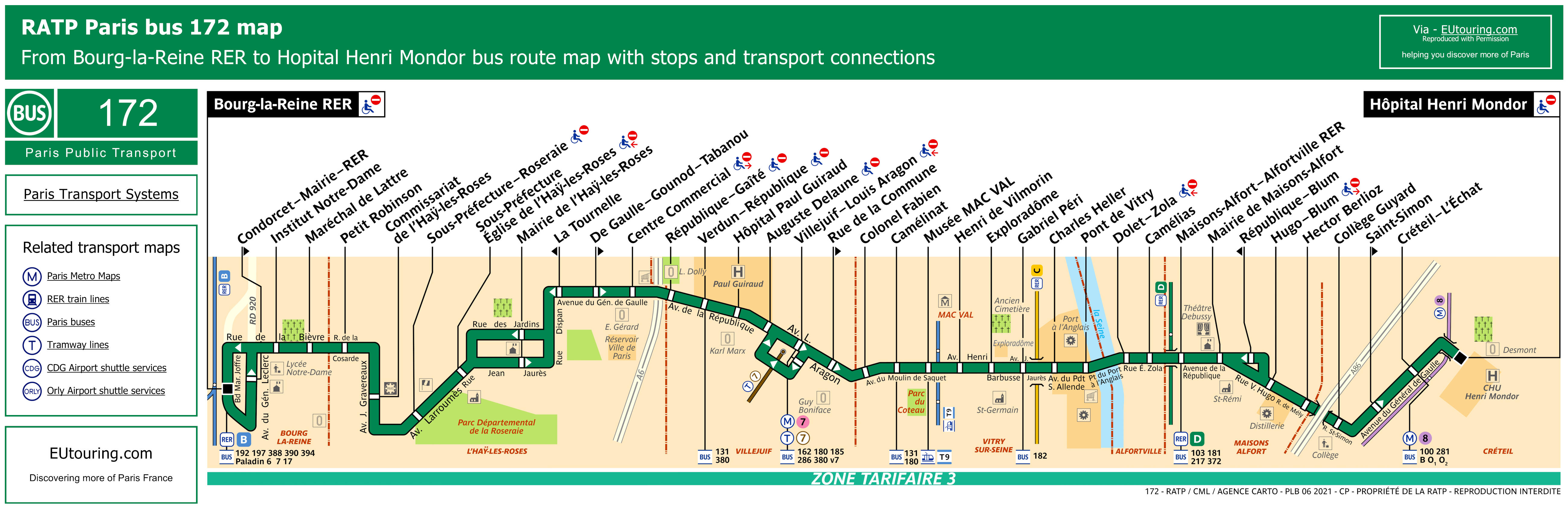 Ratp Bus Maps Timetables For Paris Bus Lines 170 To 179