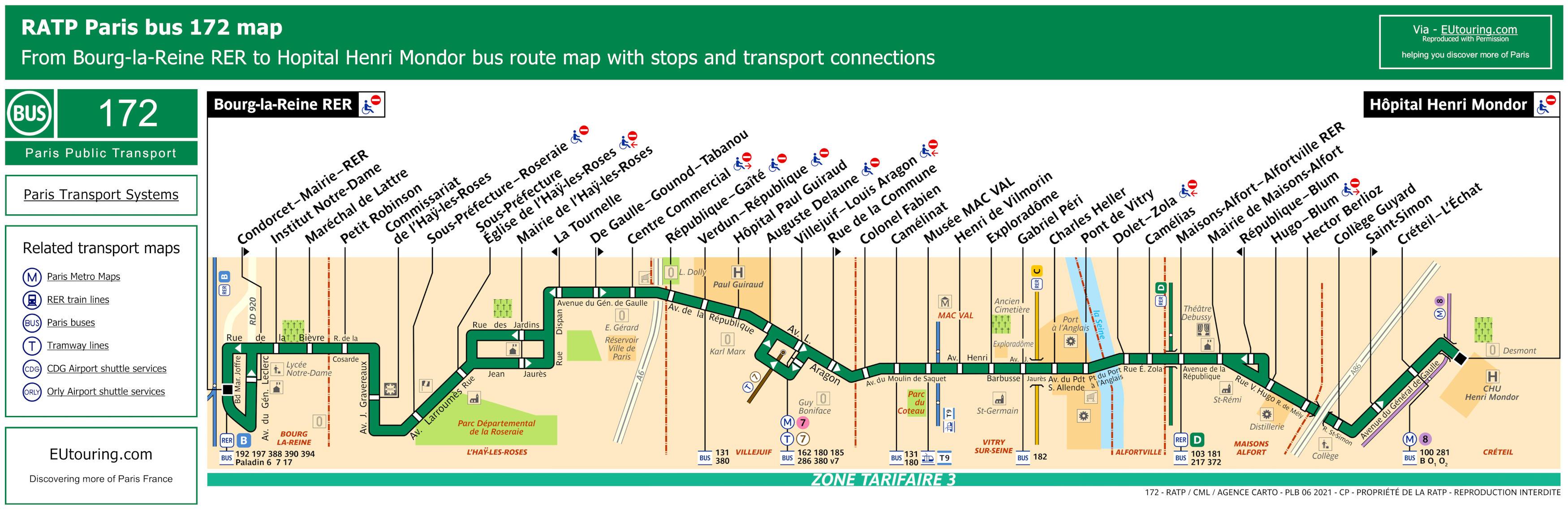 Ratp Bus Maps Timetables For Paris Bus Lines 170 To 179