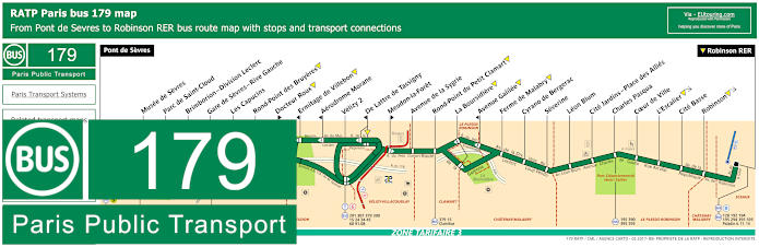 Paris Bus Line 179 Map With Stops