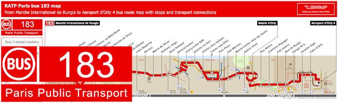 Paris Bus Line 183 Map With Stops
