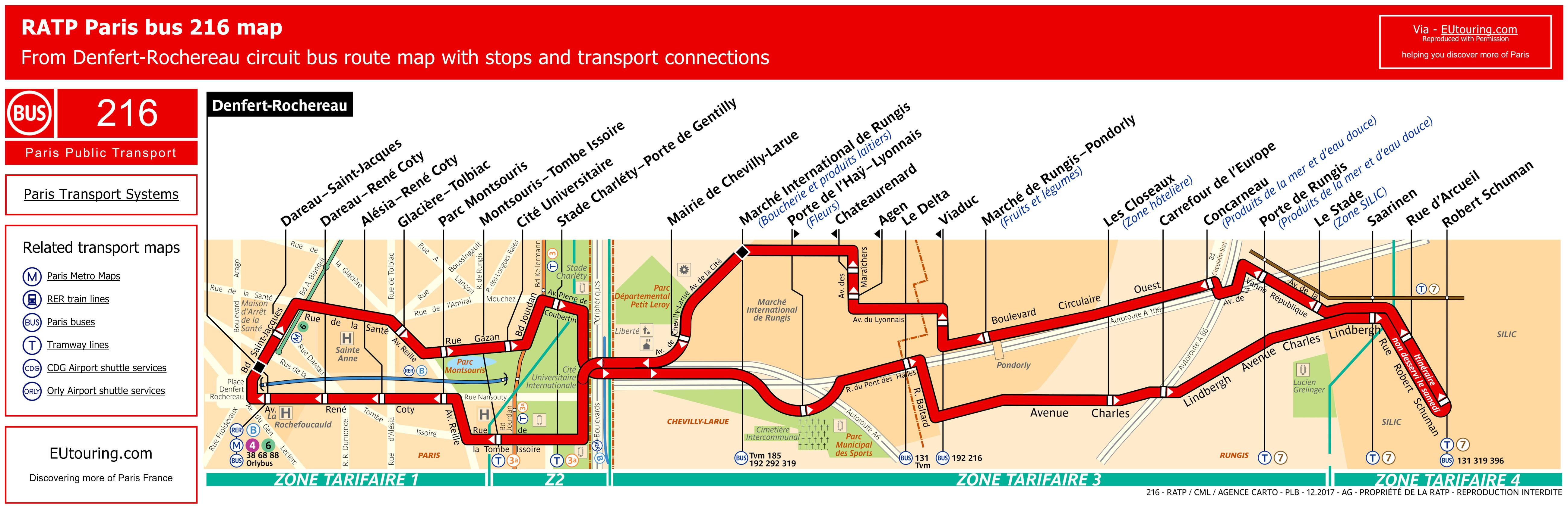 Ratp Route Maps For Paris Bus Lines 210 Through To 219