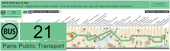 Paris Bus Line 21 Map With Stops