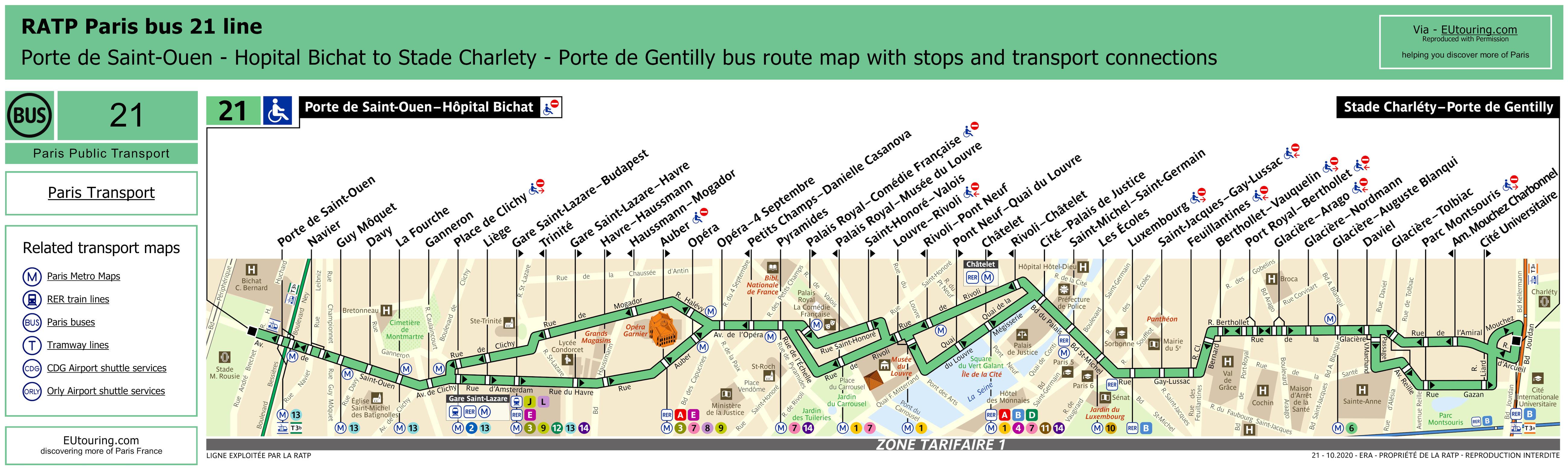 Bus Route Map Paris France Paris Bus Route Maps With City Street - Bus map paris france