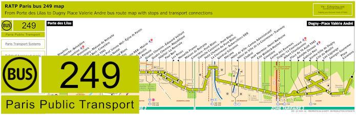 Paris Bus Line 249 Map With Stops
