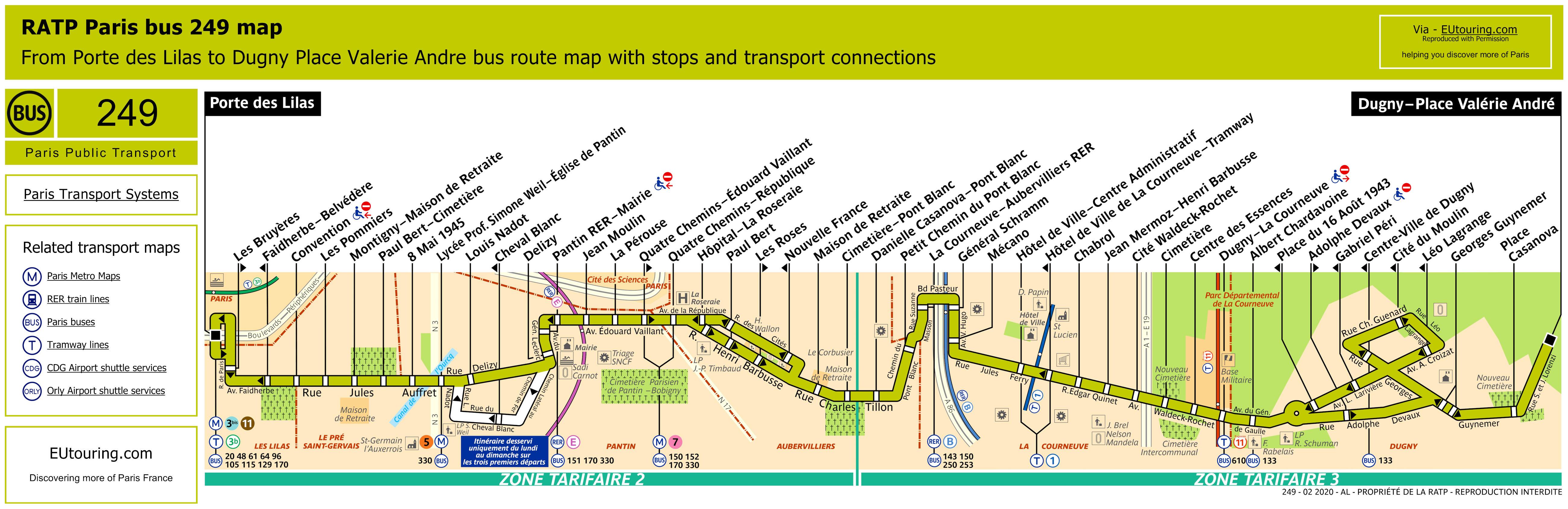 RATP Bus Line 249 Map - Image (HQ ...