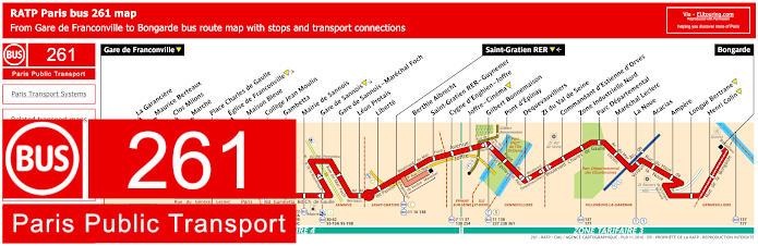 Paris Bus Line 261 Map With Stops