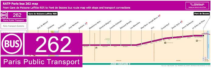 Paris Bus Line 262 Map With Stops