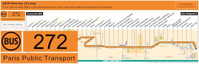 Paris Bus Line 272 Map With Stops