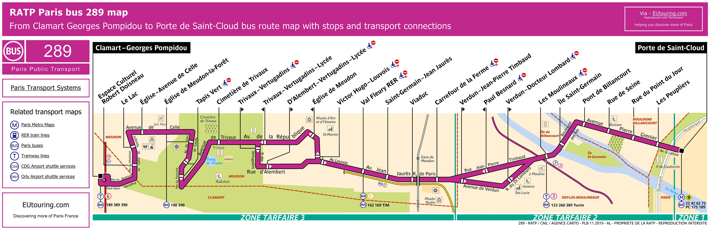 ratp bus line 289 map image hq