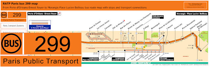 Paris Bus Line 299 Map With Stops