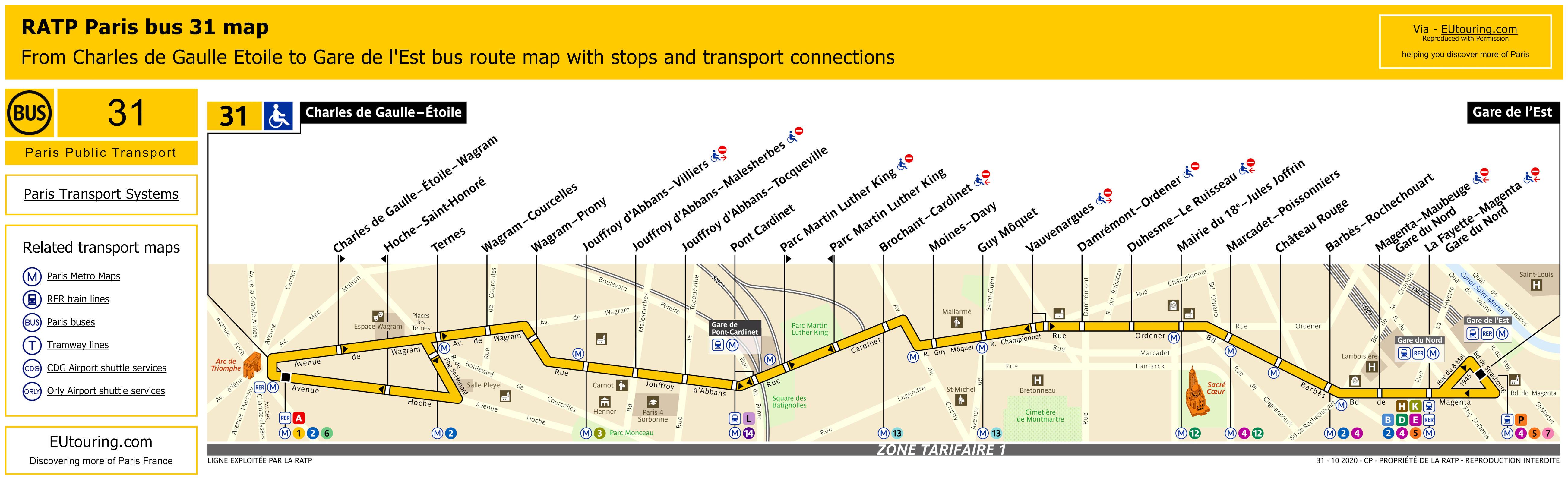 RATP route maps, timetables for Paris bus lines 30 to 39