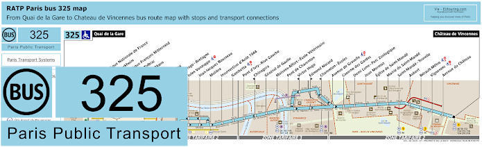 Paris Bus Line 325 Map With Stops