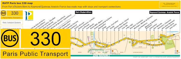 Ratp route maps for paris bus lines 330 through to 339 paris bus line 330 map with stops ccuart Images