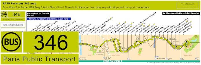 Paris Bus Line 346 Map With Stops