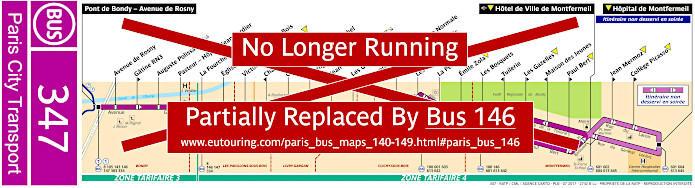 Paris Bus Line 347 Map With Stops