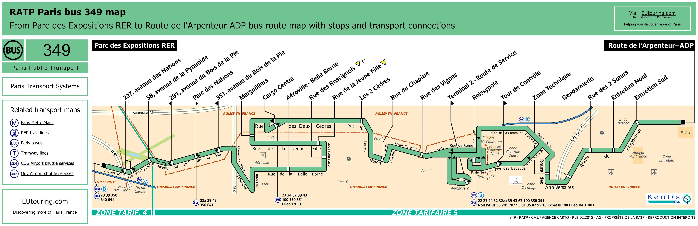 Ratp route maps for paris bus lines 340 through to 349 - Bus 351 paris ...