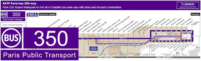 Paris Bus Line 350 Map With Stops