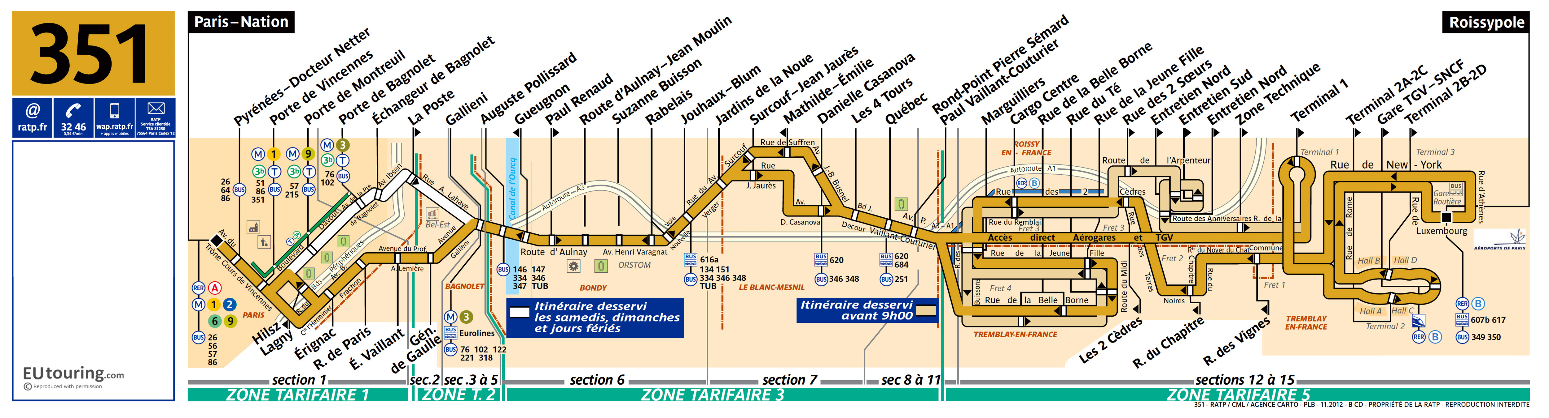 Public transport shuttle services for Charles de Gaulle airport in on