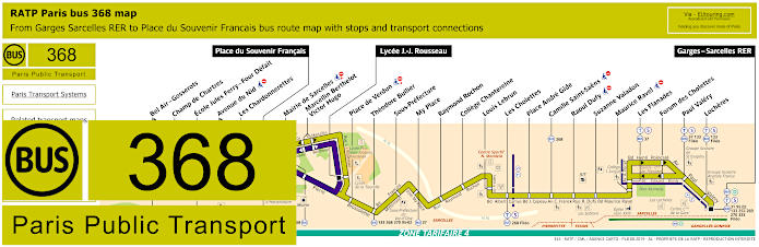 Paris Bus Line 368 Map With Stops