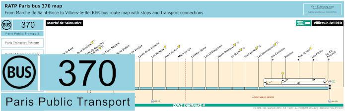 Paris Bus Line 370 Map With Stops