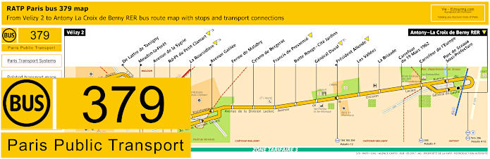 Paris Bus Line 379 Map With Stops