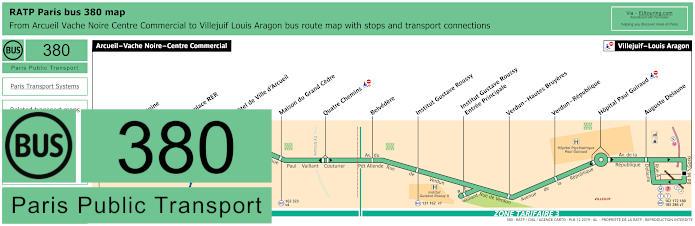 Paris Bus Line 380 Map With Stops