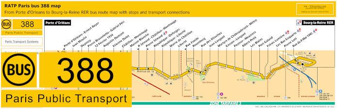 Paris Bus Line 388 Map With Stops