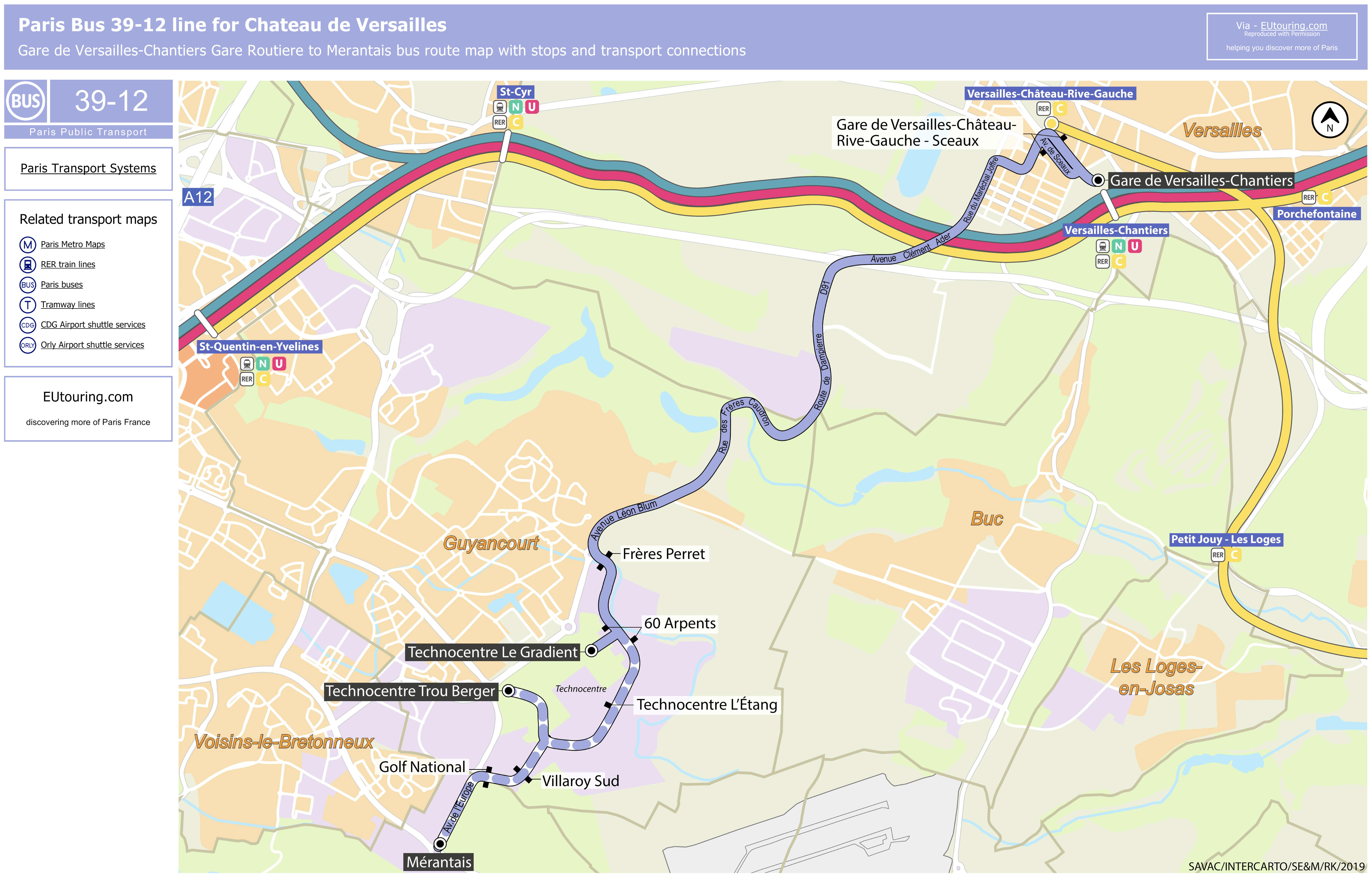 Image of: Paris Bus Maps And Timetables For Bus Lines 30 To 39
