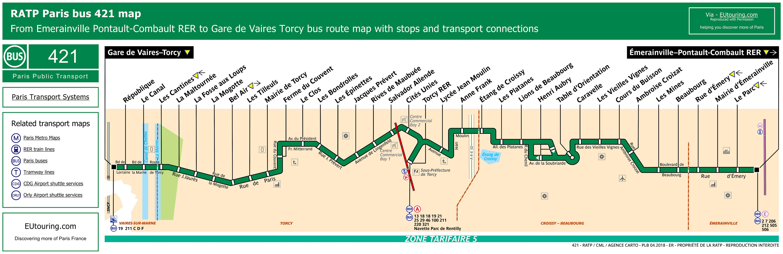 ratp route maps for paris bus lines 420 through to 429